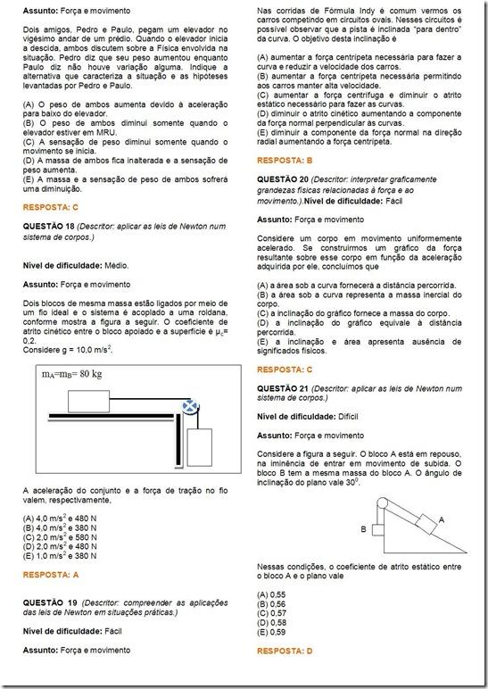exercícios sobre 2ª lei de Newton - pdf3